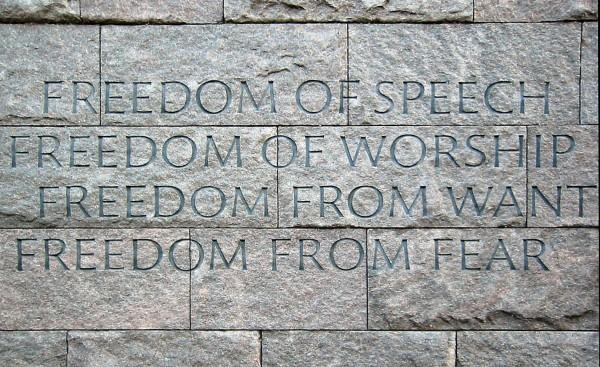FDR Memorial muur
