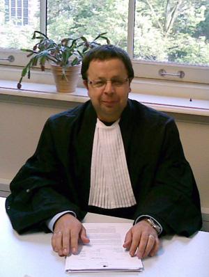 Sander Terphuis in toga